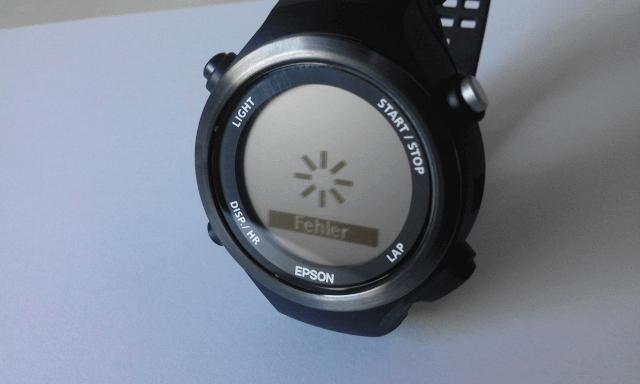 Fehler bei der Epson Runsense SF-810