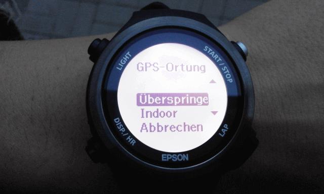 GPS-Ortung der Epson Runsense SF-810