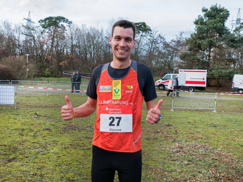 Vincent Hoyer nach einem erfolgreichen Lauf