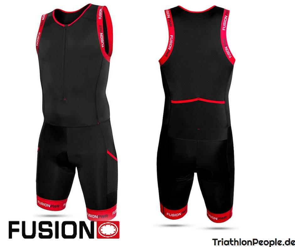 Fusion Trisuit Front Zip Herren von vorn und hinten
