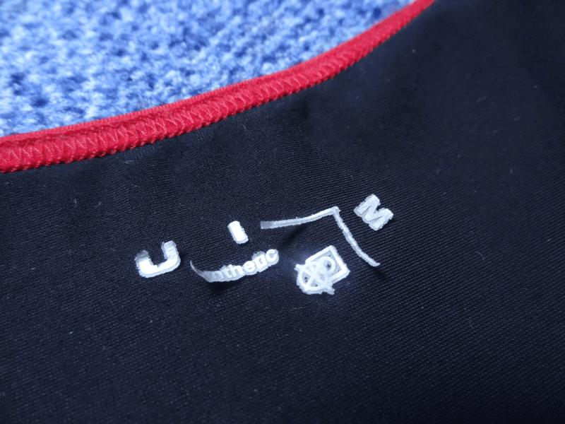 Die Beflockung des Fusion Front Zip Trisuit
