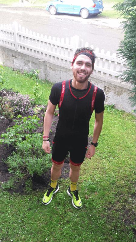 Sören nach einen Lauf im Regen
